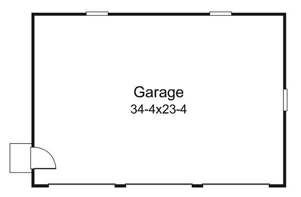 Country Floor Plan - Other Floor Plan Plan #57-641