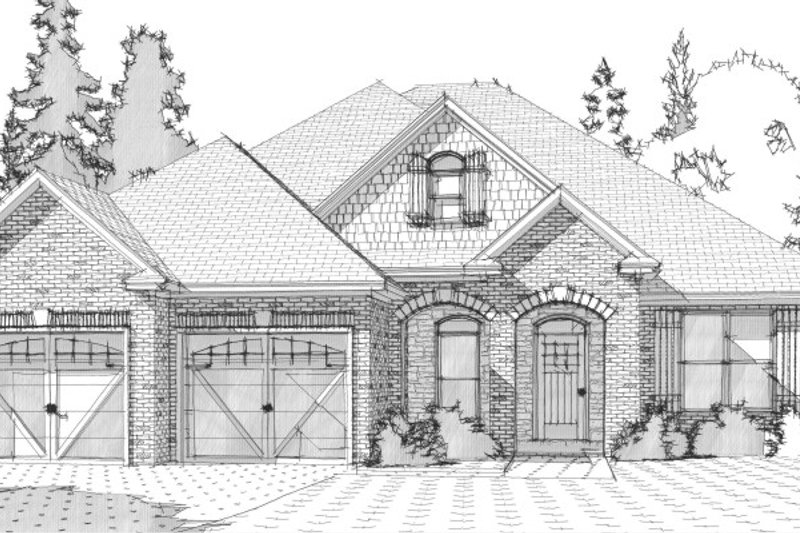 Traditional Style House Plan - 4 Beds 2 Baths 2099 Sq/Ft Plan #63-365 Exterior - Front Elevation
