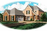 European Style House Plan - 4 Beds 3 Baths 2508 Sq/Ft Plan #81-271 Exterior - Front Elevation