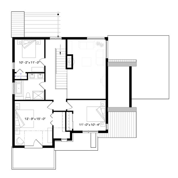 Modern Floor Plan - Upper Floor Plan Plan #23-2308