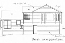 Home Plan - Traditional Exterior - Rear Elevation Plan #58-170