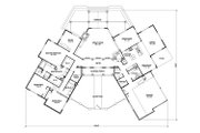 Country Style House Plan - 3 Beds 3.5 Baths 3302 Sq/Ft Plan #140-159 Floor Plan - Main Floor Plan
