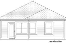 Cottage Exterior - Rear Elevation Plan #84-539