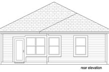 House Plan Design - Cottage Exterior - Rear Elevation Plan #84-539