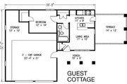 Bungalow Style House Plan - 2 Beds 3 Baths 1736 Sq/Ft Plan #410-101