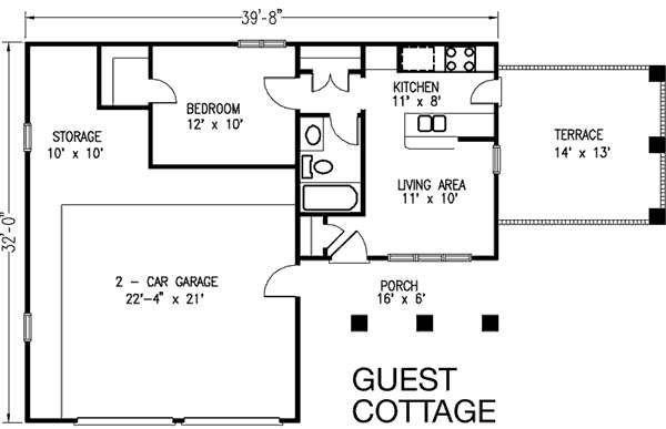 Bungalow Floor Plan - Other Floor Plan Plan #410-101