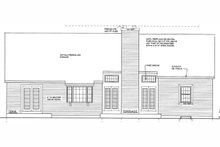 Dream House Plan - Traditional Exterior - Rear Elevation Plan #3-131