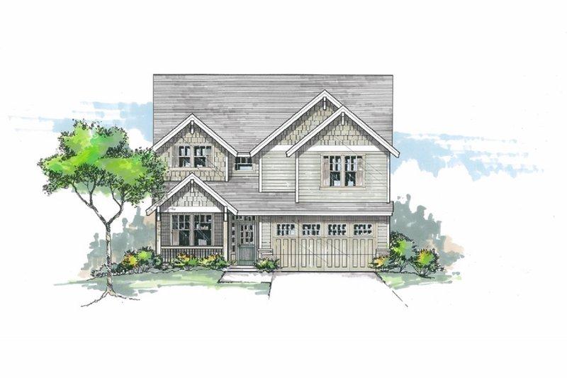 Architectural House Design - Craftsman Exterior - Front Elevation Plan #53-663