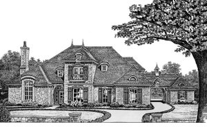 European Exterior - Front Elevation Plan #310-431