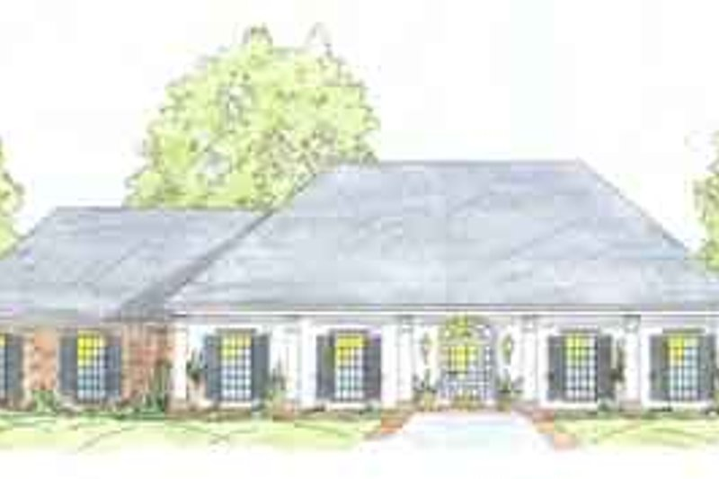 Southern Exterior - Front Elevation Plan #36-432