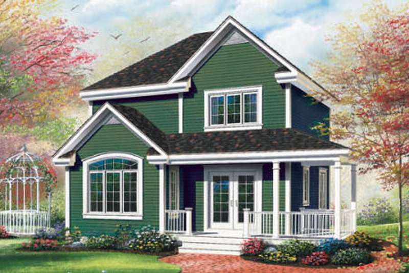 Cottage Exterior - Front Elevation Plan #23-489