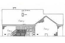 Colonial Exterior - Rear Elevation Plan #45-123