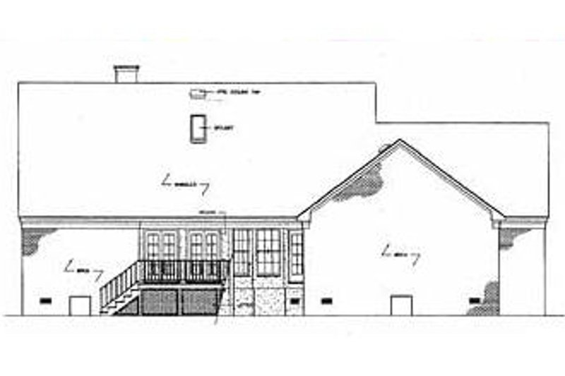 Colonial Exterior - Rear Elevation Plan #45-123 - Houseplans.com
