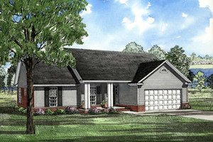 Traditional Exterior - Front Elevation Plan #17-114