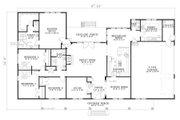 Southern Style House Plan - 4 Beds 2.5 Baths 2804 Sq/Ft Plan #17-638 Floor Plan - Main Floor Plan