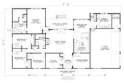 Southern Style House Plan - 4 Beds 2.5 Baths 2804 Sq/Ft Plan #17-638 Floor Plan - Main Floor