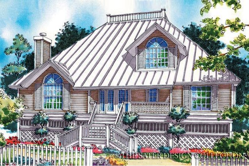 Country Exterior - Front Elevation Plan #930-49