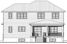 Architectural House Design - Craftsman Exterior - Rear Elevation Plan #23-2704
