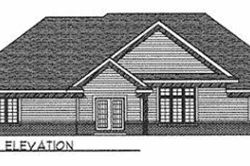 Traditional Exterior - Rear Elevation Plan #70-384 - Houseplans.com