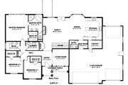 Farmhouse Style House Plan - 3 Beds 2.5 Baths 2254 Sq/Ft Plan #1060-47 Floor Plan - Main Floor