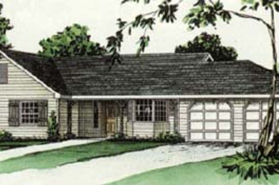 Traditional Exterior - Front Elevation Plan #16-110