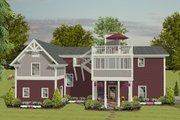 Craftsman Style House Plan - 1 Beds 2.5 Baths 1058 Sq/Ft Plan #56-626 Exterior - Rear Elevation