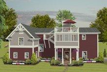 Dream House Plan - Craftsman, Rear Elevation, RV Garage
