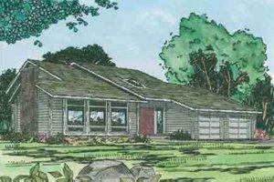 Modern Exterior - Front Elevation Plan #126-112