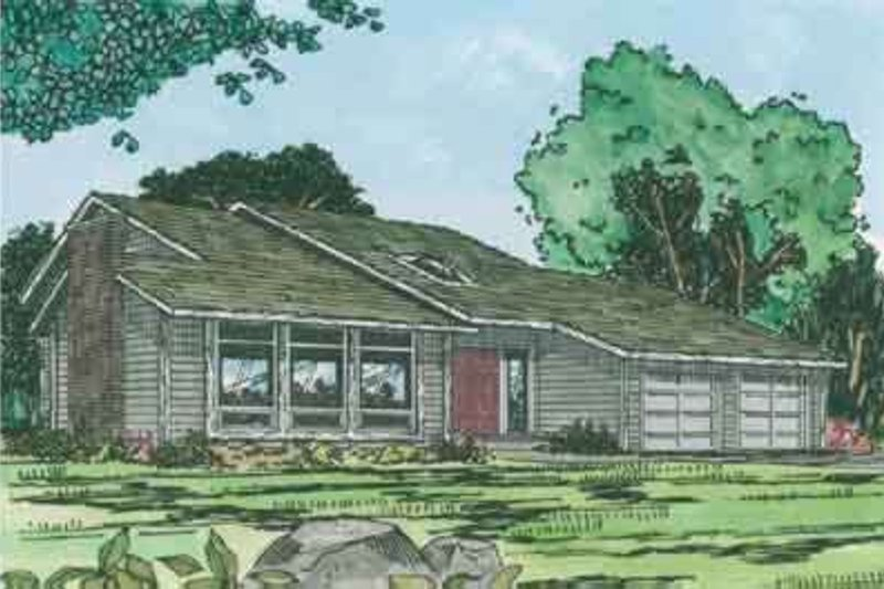 Modern Style House Plan - 3 Beds 2.5 Baths 1964 Sq/Ft Plan #126-112 Exterior - Front Elevation