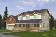 Country Style House Plan - 4 Beds 2.5 Baths 2059 Sq/Ft Plan #117-343 Exterior - Front Elevation