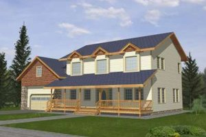 Country Exterior - Front Elevation Plan #117-343