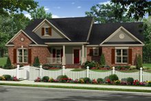 Home Plan - Country Exterior - Front Elevation Plan #21-340