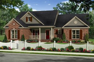 Country Exterior - Front Elevation Plan #21-340