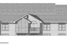 House Design - Traditional Exterior - Rear Elevation Plan #70-753