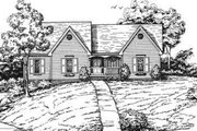 Ranch Style House Plan - 3 Beds 2 Baths 1730 Sq/Ft Plan #30-150 Exterior - Front Elevation