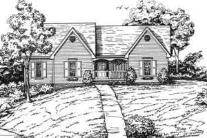 Ranch Exterior - Front Elevation Plan #30-150