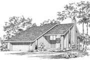 Contemporary Style House Plan - 4 Beds 3.5 Baths 3315 Sq/Ft Plan #72-180 Exterior - Front Elevation