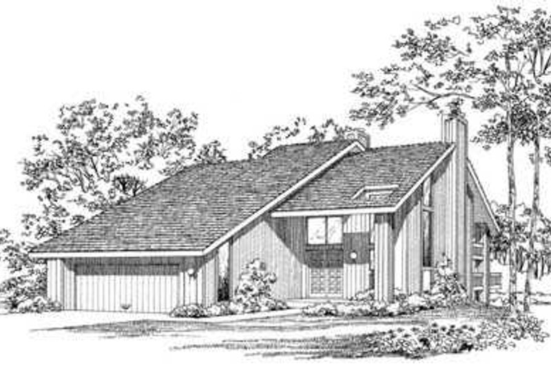 Contemporary Exterior - Front Elevation Plan #72-180 - Houseplans.com