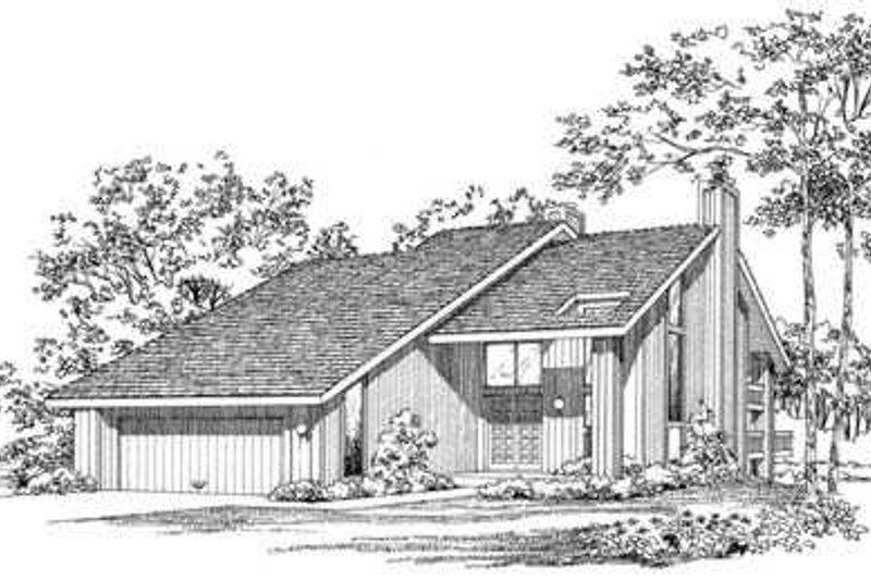 House Blueprint - Contemporary Exterior - Front Elevation Plan #72-180