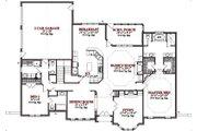 European Style House Plan - 4 Beds 3.5 Baths 3236 Sq/Ft Plan #63-212 Floor Plan - Main Floor Plan