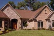 European Style House Plan - 3 Beds 2.5 Baths 4160 Sq/Ft Plan #46-288 Exterior - Front Elevation