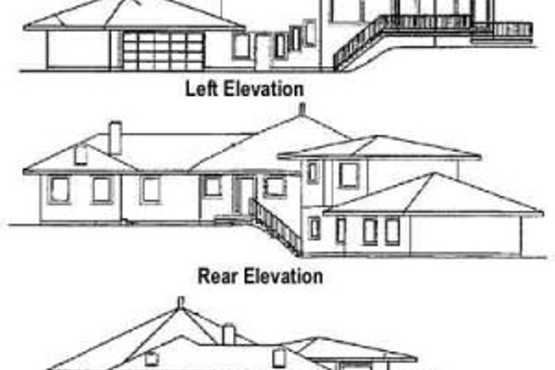 Traditional Exterior - Rear Elevation Plan #60-372 - Houseplans.com