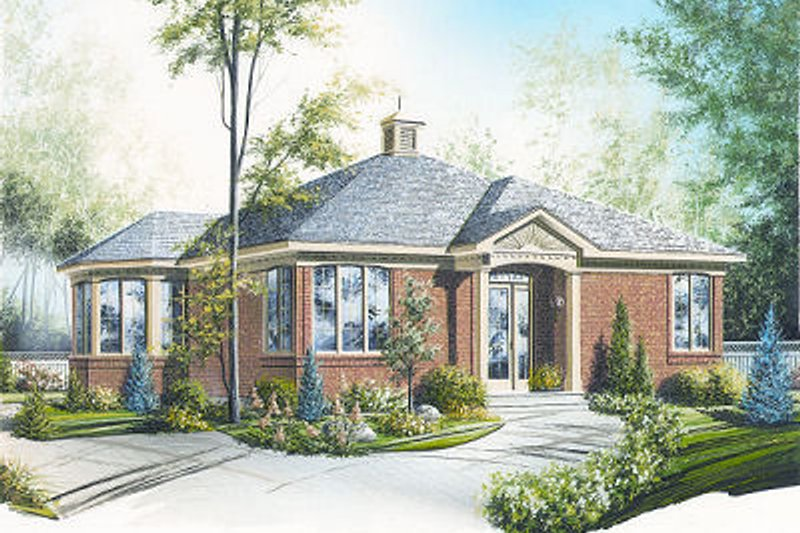 Architectural House Design - Traditional Exterior - Front Elevation Plan #23-686