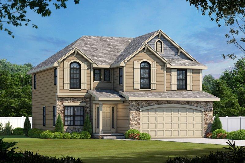 Architectural House Design - Bungalow Exterior - Front Elevation Plan #20-1770