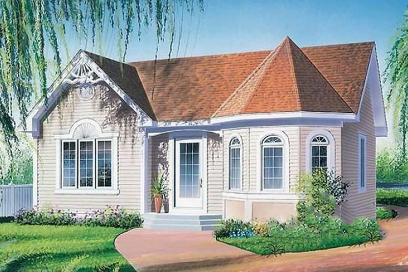 Home Plan Design - Victorian Exterior - Front Elevation Plan #23-168