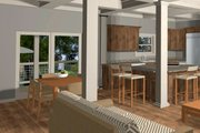 Craftsman Style House Plan - 4 Beds 3 Baths 1898 Sq/Ft Plan #56-710 Interior - Dining Room