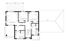 Modern Floor Plan - Upper Floor Plan Plan #23-2309