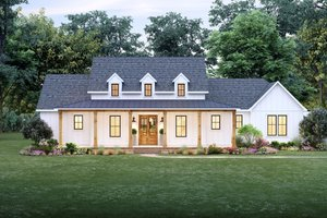 Dream House Plan - Farmhouse Exterior - Front Elevation Plan #1074-31