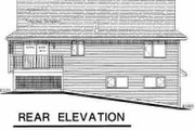 Traditional Style House Plan - 3 Beds 1 Baths 1454 Sq/Ft Plan #18-307 Exterior - Rear Elevation