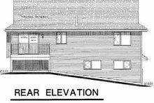 House Blueprint - Traditional Exterior - Rear Elevation Plan #18-307